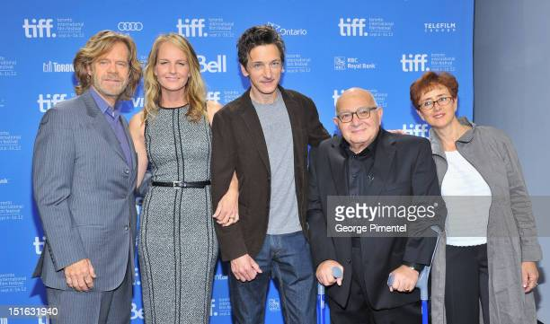Actors William H Macy Helen Hunt John Hawkes writer/director Ben Lewin and producer Judi Levine attend the 'The Sessions' Photo Call during the 2012...