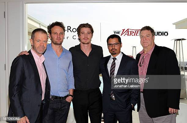 Actors William H Macy Jason Clarke Garrett Hedlund Michael Pena and John Goodman attend The Variety Studio Awards Edition held at a private residence...
