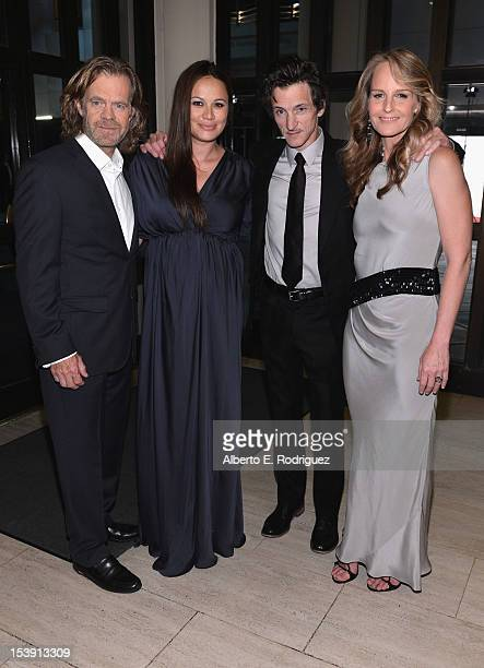 Actors William H Macy Moon Bloodgood John Hawkes and Helen Hunt arrive to the Los Angeles premiere of Fox Searchlight Pictures' 'The Sessions' held...
