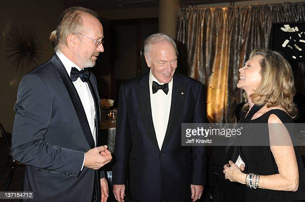 Actors William Hurt and Christopher Plummer with wife Elaine Taylor attend HBO's Official After Party for the 69th Annual Golden Globe Awards held at...