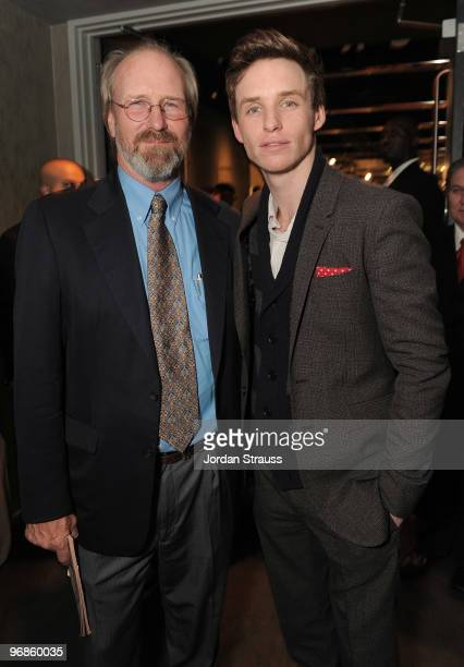 Actors William Hurt and Eddie Redmayne attend the 'The Yellow Handkerchief' Los Angeles Premiere at Pacific Design Center on February 18 2010 in West...