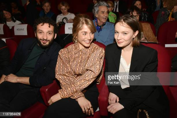 Actors William Lebghil Alice Isaaz and Diane Rouxel attend the 37th 'Romy Schneider And Patrick Dewaere Awards' Nominee Luncheon At Cinema Le Mac...