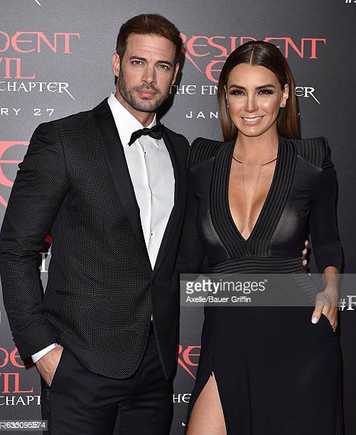 Actors William Levy and Elizabeth Gutierrez arrive at the premiere of Sony Pictures Releasing's 'Resident Evil The Final Chapter' at Regal LA Live A...