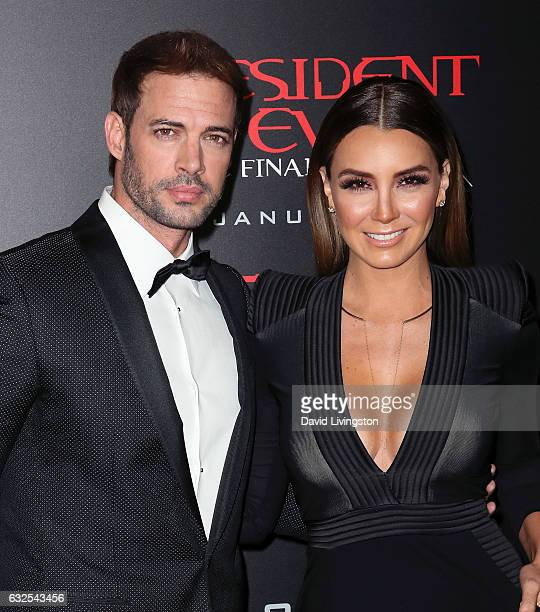 "Actors William Levy and Elizabeth Gutierrez attend the premiere of Sony Pictures Releasing's ""Resident Evil: The Final Chapter"" at Regal LA Live: A..."