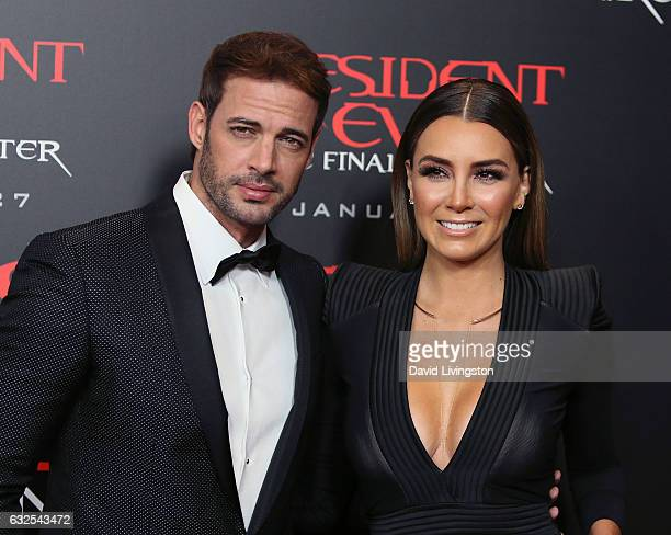 Actors William Levy and Elizabeth Gutierrez attend the premiere of Sony Pictures Releasing's Resident Evil The Final Chapter at Regal LA Live A Barco...