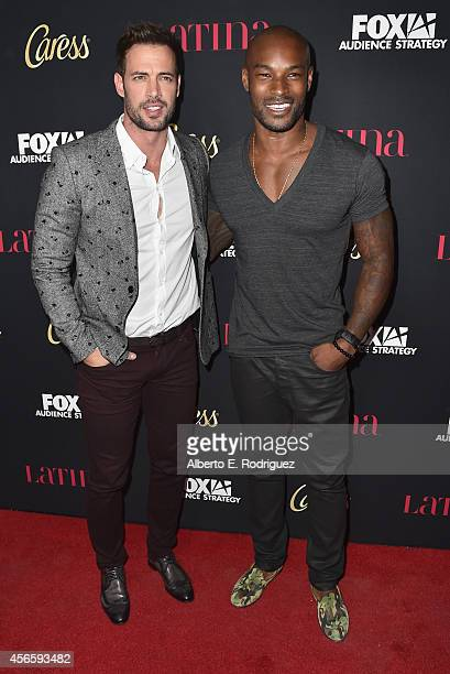 Actors William Levy and Tyson Beckford attend LATINA Magazine's Hollywood Hot List party at the Sunset Tower Hotel on October 2 2014 in West...