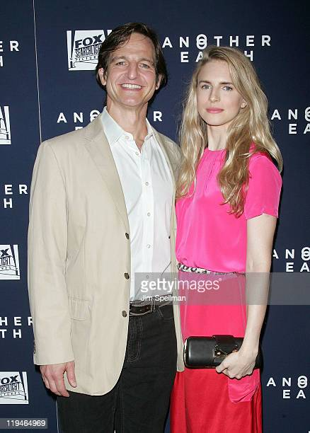 Actors William Mapother and Brit Marling attend the Another Earth premiere at Landmark's Sunshine Cinema on July 20 2011 in New York City