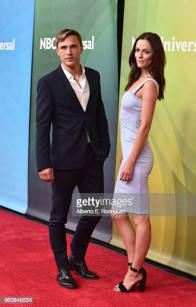 Actors William Moseley and Alexandra Park attend NBCUniversal's Summer Press Day 2018 at The Universal Studios Backlot on May 2 2018 in Universal...
