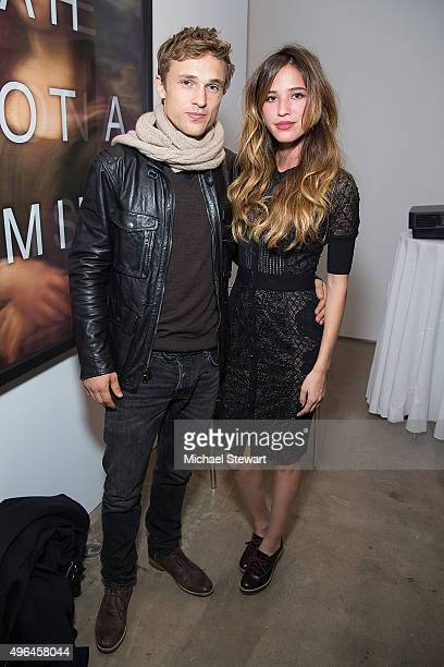 "Actors William Moseley and Kelsey Chow attend the ""The Royals"" series season two premiere celebration at Hoerle Guggenheim Gallery on November 9,..."