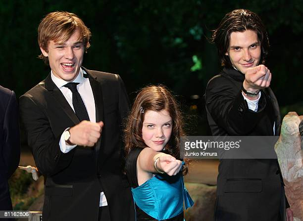 """Actors William Moseley, Georgie Henley and Ben Barnes attend """"The Chronicles of Narnia: Prince Caspian"""" Japan Premiere at Roppongi Hills Arena on May..."""