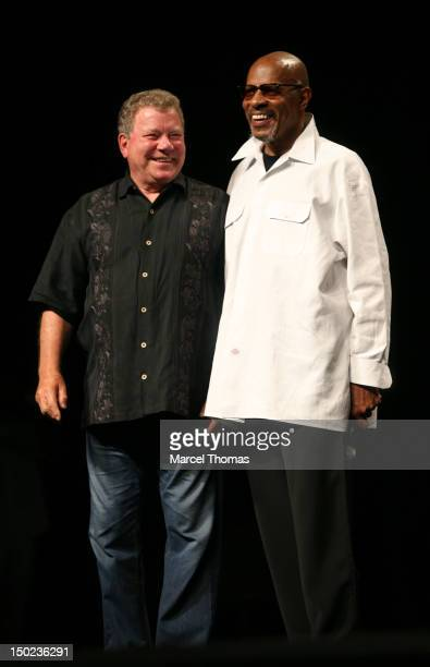 Actors William Shatner and Avery Brooks attend the 11th Annual Official Star Trek Convention at The Rio Hotel on August 12 2012 in Las Vegas Nevada