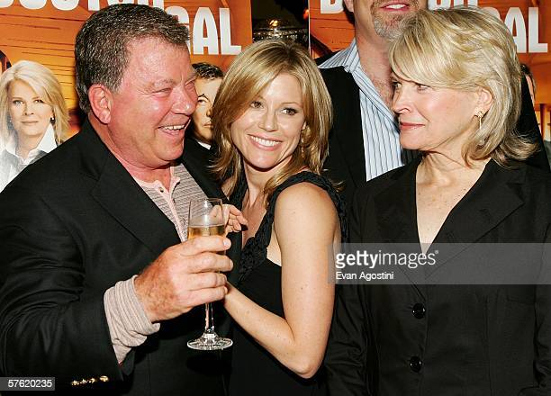 LR Actors William Shatner Julie Bowen and Candice Bergen attend the Fox Home Entertainment Boston Legal DVD release celebration at The Museum of...