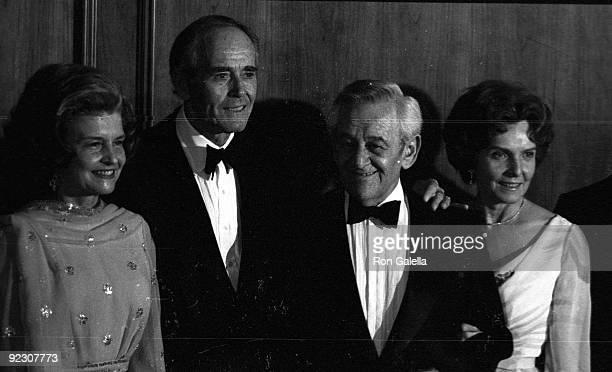 Actors William Wyler and Peter Fonda and First Lady Betty Ford attending Fourth Annual American Film Institute Lifetime Achievement Awards Honoring...