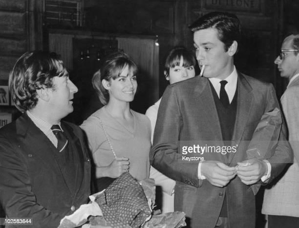 Actors Willy Rizzo Natalie Delon Elsa Martinelli and Alain Delon Rome 28th October 1965