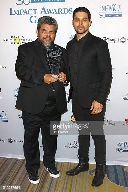 Actors Wilmer Valderrama and Luis Guzman attend the 19th Annual National Hispanic Media Coalition Impact Awards Gala at Regent Beverly Wilshire Hotel...