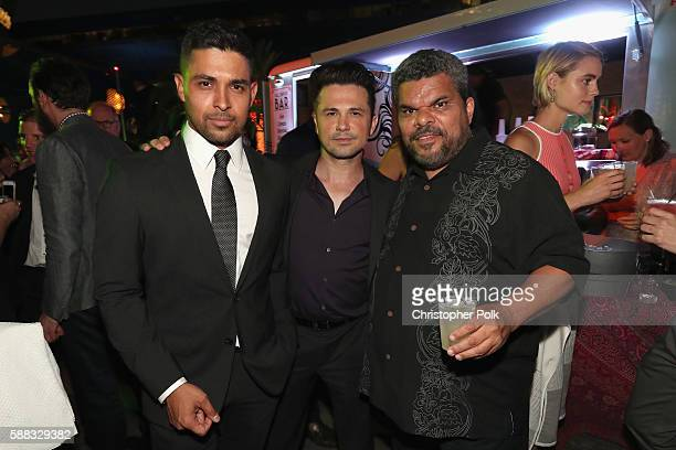 Actors Wilmer Valderrama Freddy Rodriguez and Luis Guzman attend the CBS CW Showtime Summer TCA Party at Pacific Design Center on August 10 2016 in...