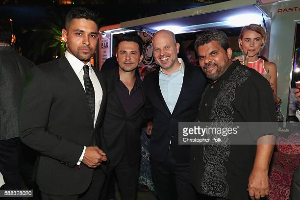 Actors Wilmer Valderrama Freddy Rodriguez President of CBS Entertainment Glenn Geller and actor Luis Guzman attend the CBS CW Showtime Summer TCA...