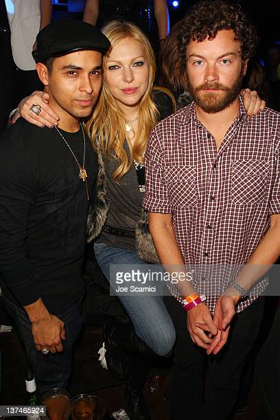 Actors Wilmer Valderrama Laura Prepon and Danny Masterson attend TMobile presents Google Music at TAO a nightlife event at the Sundance Film Festival...