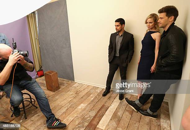 Actors Wilmer Valderrama Laura Regan and Nick Zano from FOX's 'Minority Report' attend the Getty Images Portrait Studio powered by Samsung Galaxy at...