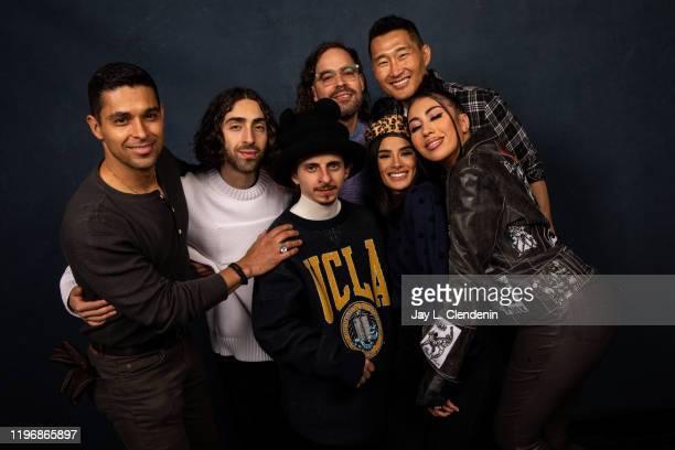 Actors Wilmer Valderrama Mateo Arias Moises Arias director Esteban Arango Diana Guerrero Daniel Dae Kim and Kali Uchis from 'Blast Beat' are...
