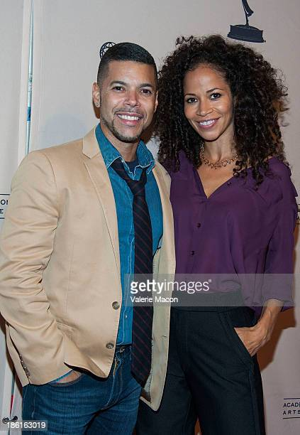Actors Wilson Cruz and Sherri Saum arrive at '10 Years After The Prime Time Closet A History Of Gays And Lesbians On TV' at Academy of Television...
