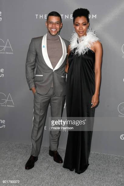 Actors Wilson Cruz and Sonequa MartinGreen attend the Costume Designers Guild Awards at The Beverly Hilton Hotel on February 20 2018 in Beverly Hills...