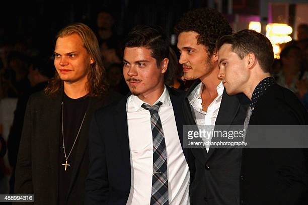Actors Wilson Gonzalez Ochsenknecht Atticus Mitchell Karl Glusman and Rohan Mead attend the Stonewall premiere during the 2015 Toronto International...