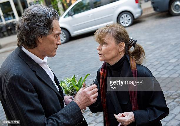 Actors Winfried Glatzeder and Angelica Domroese attend the screening of the 1973 film Die Legende von Paul und Paula at the Filmkunst 66 cinema on...