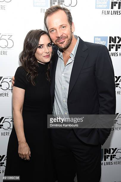 Actors Winona Ryder and Peter Sarsgaard attend the premiere of 'Experimenter' during the 53rd New York Film Festival at Alice Tully Hall Lincoln...