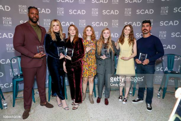 Actors Winston Duke Hari Nef Kayli Carter Millicent Simmonds Elsie Fisher Thomasin McKenzie and Raul Castillo attend the Entertainment Weekly...