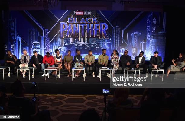 Actors Winston Duke Martin Freeman Andy Serkis Daniel Kaluuya Letitia Wright Danai Gurira Lupita Nyong'o Michael B Jordan Chadwick Boseman Angela...