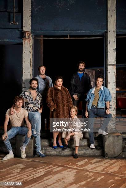 Actors with Teddy Bogaert Harrison Arevalo JeanCharles Clichet MarlËne Saldana Marina Fois Lucien Honore and Youssouf AbiAyad are photographed for...