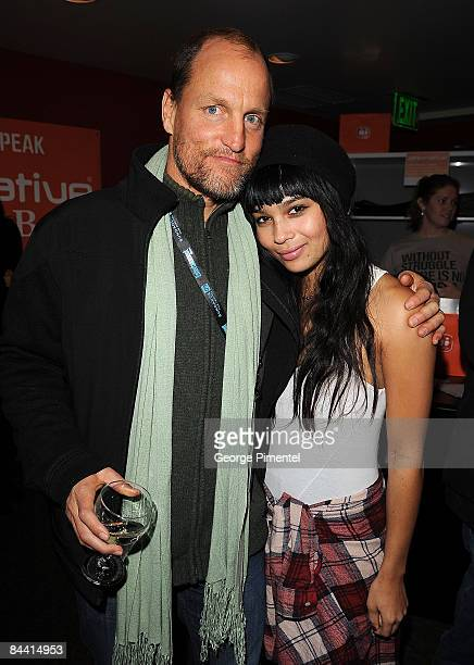 Actors Woody Harrelson and Zoe Kravitz attend The People Speak The Voices of a People's History of the United States After Party hosted by Greenhouse...