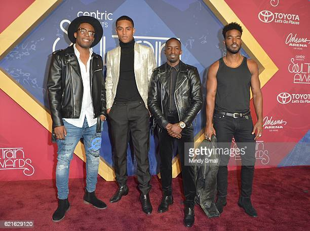 Actors Woody McClain Keith Powers Elijah Kelley and Luke James attend the 2016 Soul Train Music Awards at the Orleans Arena on November 6 2016 in Las...