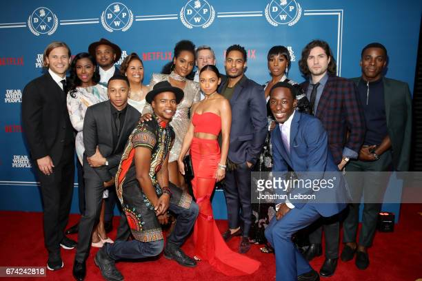 Actors Wyatt Nash Nia Jervier writer/producer Justin Simien producer Yvette Lee Bowser actor Antoinette Robertson Netflix chief content officer Ted...