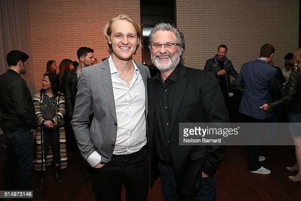 """Actors Wyatt Russell and Kurt Russell attend the """"Everybody Wants Some"""" after party during the 2016 SXSW Music, Film + Interactive Festival on March..."""