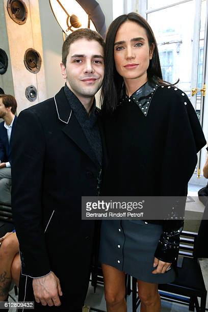 Actors Xavier Dolan and Jennifer Connelly attend the Louis Vuitton show as part of the Paris Fashion Week Womenswear Spring/Summer 2017 on October 5...