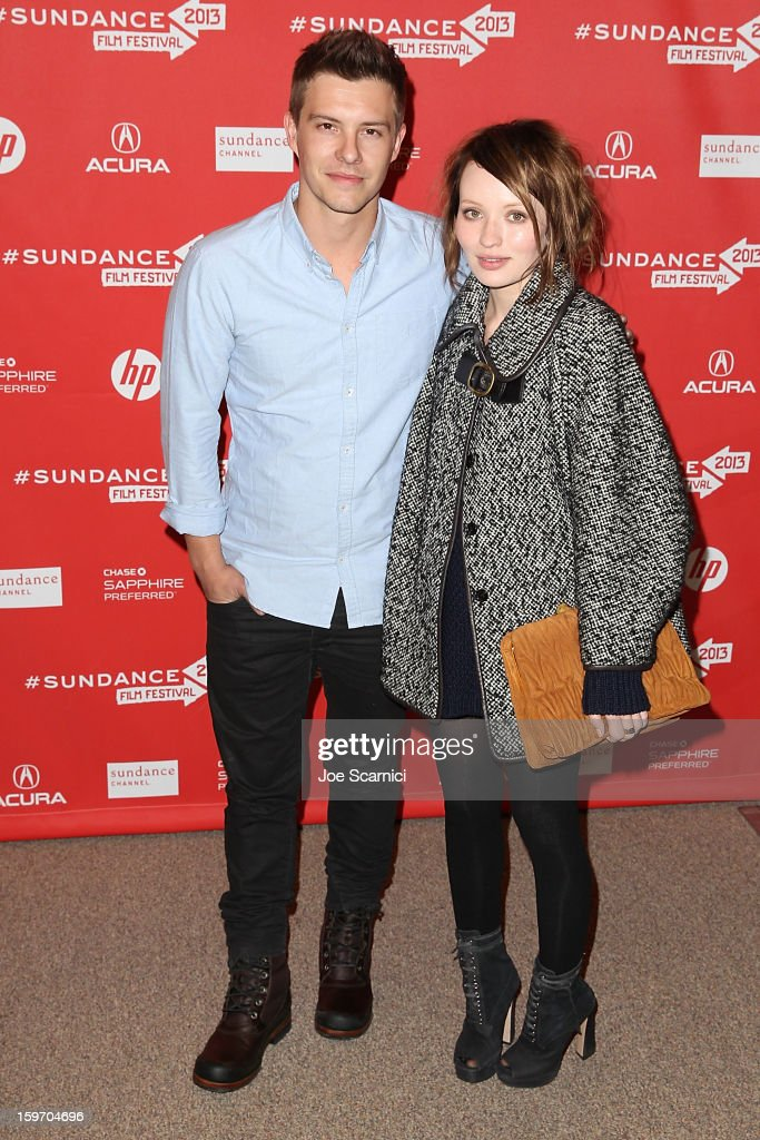 Actors Xavier Samuel and Emily Browning arrive at the 'Two Mothers' Premiere at the 2013 Sundance Film Festival at Eccles Center Theatre on January 18, 2013 in Park City, Utah.