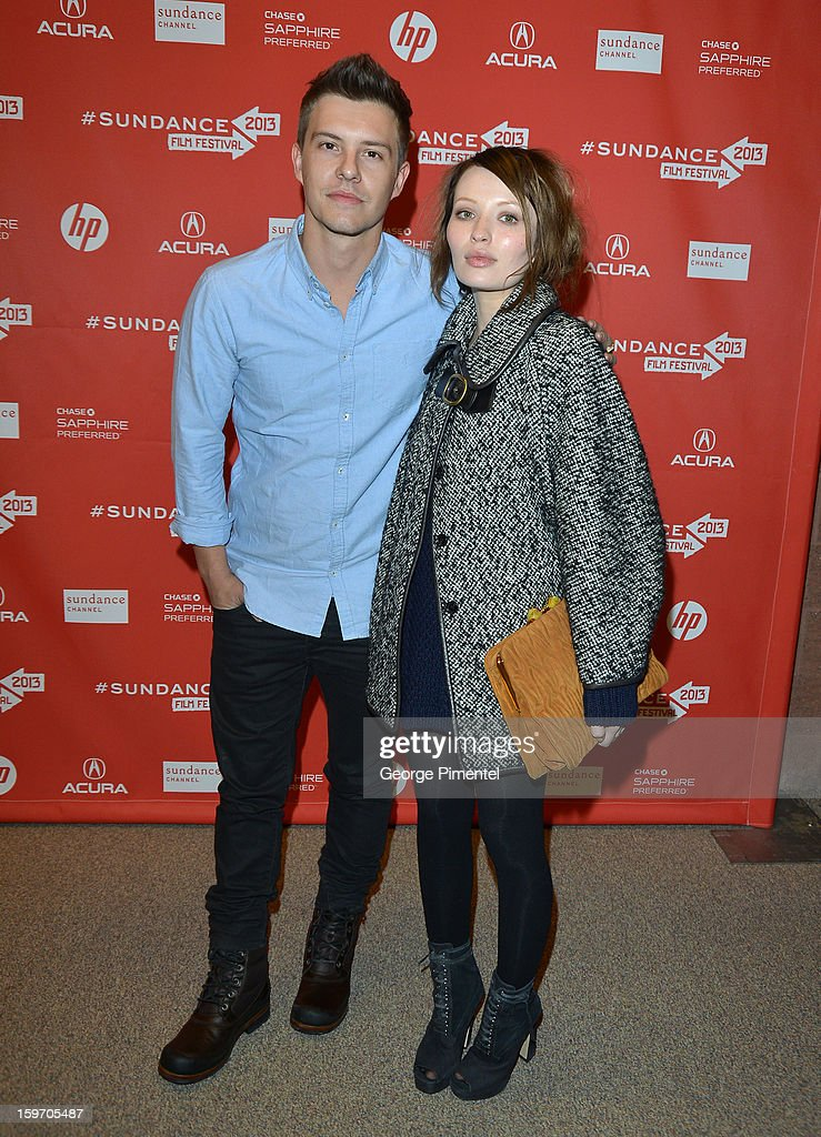 Actors Xavier Samuel (L) and Emily Browning attend the 'Two Mothers' Premiere during the 2013 Sundance Film Festival at Eccles Center Theatre on January 18, 2013 in Park City, Utah.