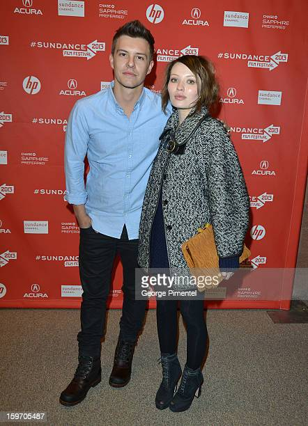 Actors Xavier Samuel and Emily Browning attend the 'Two Mothers' Premiere during the 2013 Sundance Film Festival at Eccles Center Theatre on January...