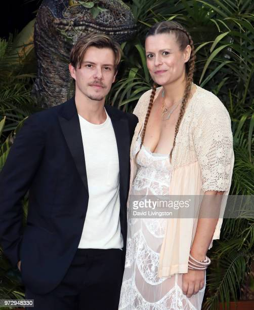 Actors Xavier Samuel and Marianna Palka attend the premiere of Universal Pictures and Amblin Entertainment's 'Jurassic World Fallen Kingdom' at Walt...
