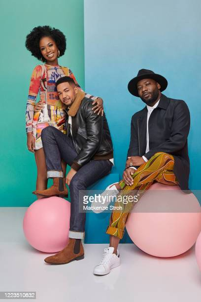 Actors Xosha Roquemore, Alano Miller and Blitz Bazawule from 'Cherish The Day' are photographed for Entertainment Weekly Magazine on February 27,...