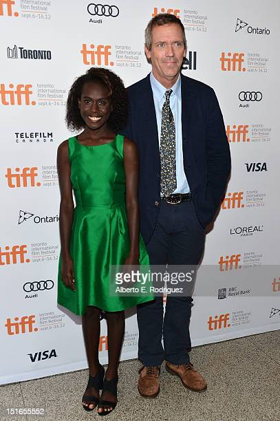 Actors Xzannjah Matsi and Hugh Laurie attend the Mr Pip premiere during the 2012 Toronto International Film Festival at Winter Garden Theatre on...