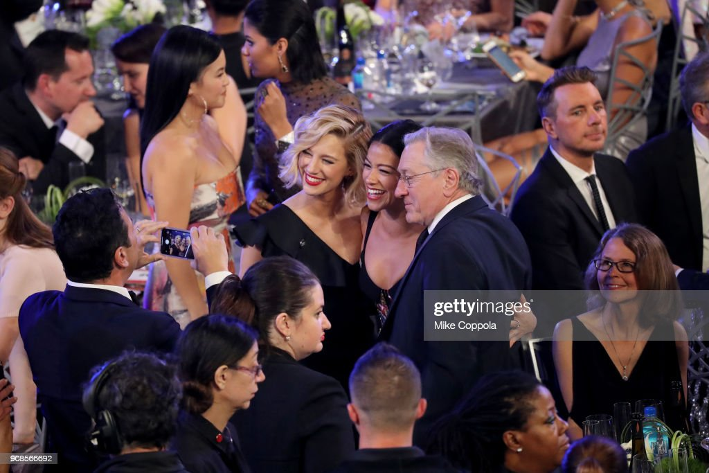 Actors Yael Grobglas, Gina Rodriguez and Robert De Niro attend the 24th Annual Screen Actors Guild Awards at The Shrine Auditorium on January 21, 2018 in Los Angeles, California. 27522_014