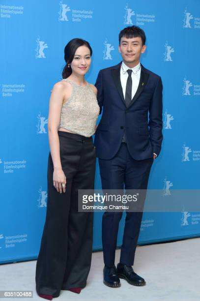 Actors Yao Yi Ti and Chang Chen attend the 'Mr Long' photo call during the 67th Berlinale International Film Festival Berlin at Grand Hyatt Hotel on...