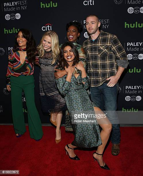 "Actors Yasmine al Massri, Johanna Braddy, Aunjanue Ellis, Priyanka Chopra and Jake McLaughlin attendsPaleyFest New York 2016 ""Quantico"" at The Paley..."