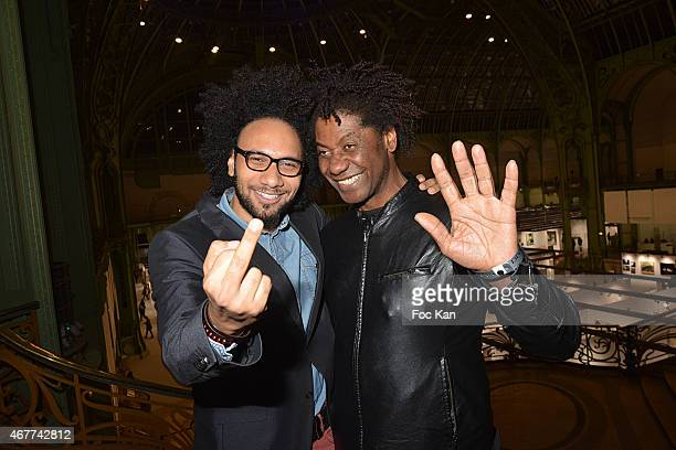 Actors Yassine Azzouz and Joel Virgel Vierset attend the 'Diamond Night by Divinescence Vendome' Harumi Klossowska Jewellery Exhibition Preview As...