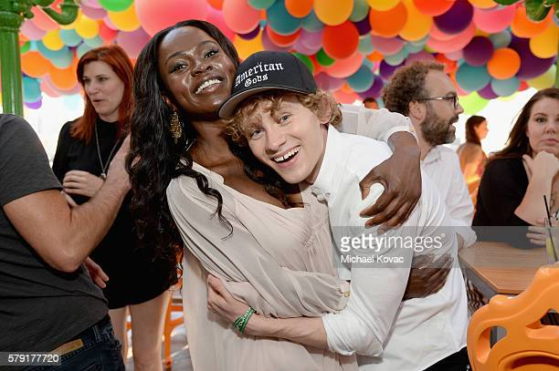 Actors Yetide Badaki and Bruce Langley attend STARZ San Diego ComicCon Cocktail Party on July 22 2016 in San Diego California