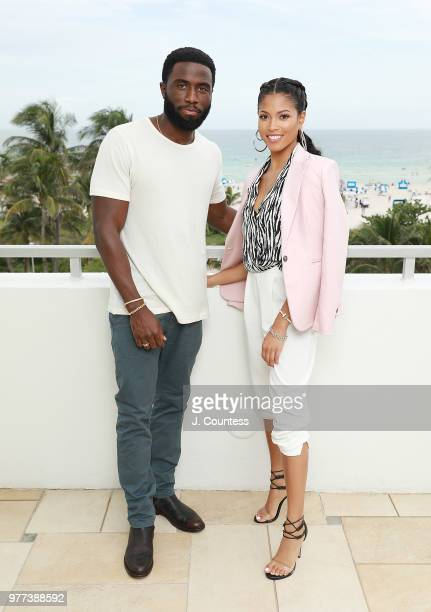 Actors Y'lan Noel and actress Lex Scott Davis pose for a portrait during the 22nd Annual American Black Film Festival at the Loews Miami Beach Hotel...