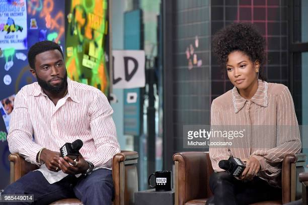 Actors Y'lan Noel and Lex Scott Davis visit Build to discuss 'The First Purge' at Build Studio on June 27 2018 in New York City